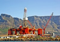 Oil rig in Cape town