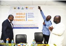 Dr Alfred Kwabena Ofosu Ahenkorah (with microphone), Executive Secretary of the Ghana Energy