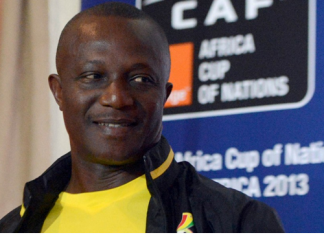 *Ghanaian Head Coach, Kwesi Appiah