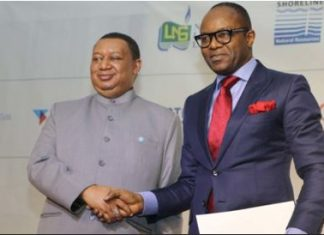 OPEC Secretary General, Mohammed Barkindo; Minister of State for Petroleum, Emmanuel Ibe Kachikwu at the Nigeria Oil and Gas Conference and Exhibition